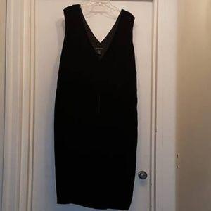 INC Woman Black Velvet Dress 24W NWOT